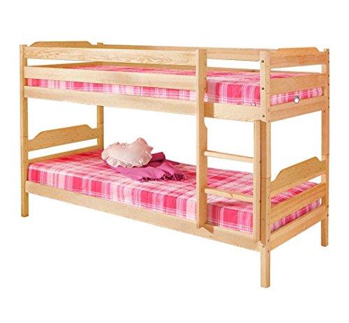 silenta Bio Etagenbett Arcus Stockbett Kiefer Massivholz 90x200 Doppelbett für Kinderzimmer, teilbar in 2 baugleiche Einzelbetten