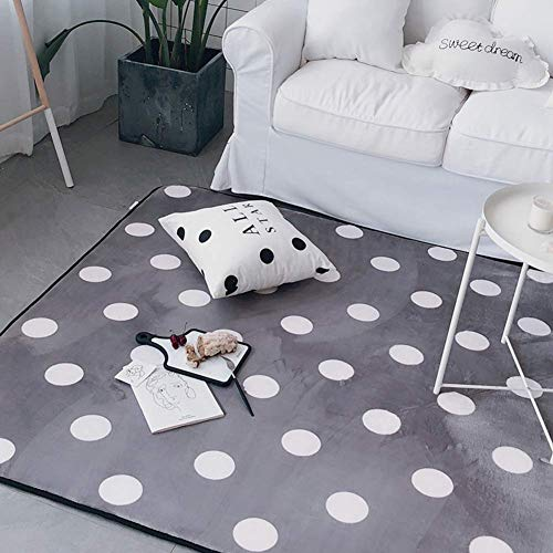 HIGHKAS Non-Slip Modern Area Rugs,Tatami Carpet,Soft Floor mats Washable Thicken Living Room Home Rugs Bedroom Floor Carpet-E 150x190cm(59x75inch)