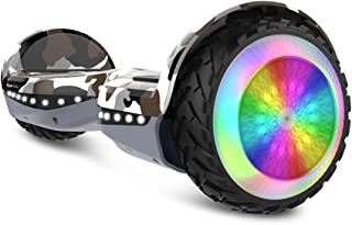 HYPER GOGO Hoverboard, Off Road All Terrain Hoverboards with Bluetooth Speaker, Colorful LED Light Wheels, UL Certified,6.5 inches Self Balancing Scooter for Kids