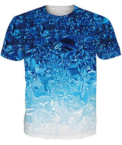 Fanient Herren Damen Aufdruck T-Shirt Rundhals Tee S M L XL XXL, Bunte, XL