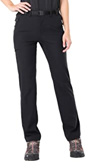 MIER Women's Quick Dry Cargo Pants Lightweight Tactical Hiking Pants with 6 Pockets, Stretchy and Elastic Waist, Regular Fit