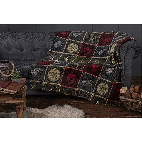 DREAMTEX LTD Juego de Tronos - Manta Sigils Flannel Fleece de 120X150 cm