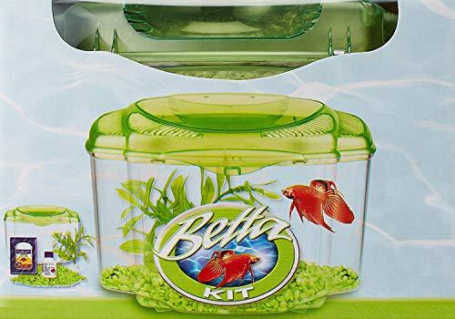 Marina Betta Pals Kit, Betta Fish Aquarium Starter Kit, Green, 13410