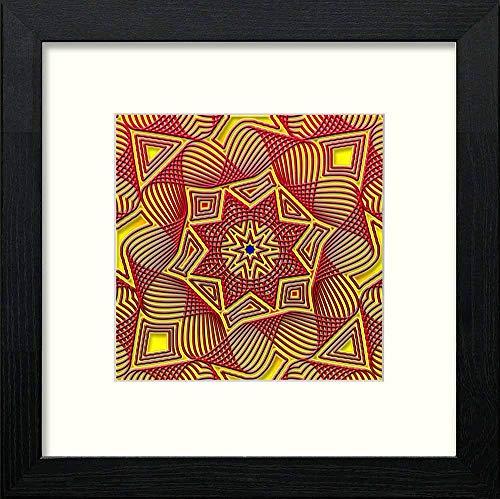 L Lumartos Piastrelle Islamiche Vintage, Stile Contemporaneo, Decorazione da Parete, in Legno Nero, 10 x 10 cm, 10 x 10