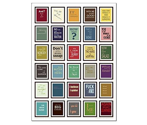 tom bäcker Denglisch Poster/Plakat/Kunstdruck + DinA1 + Best of Engleutsch for Oncatcher 30 besten Denglish Sprüche - Geschenk für Lehrer - Übersetzer - Englisch - wörtliche Übersetzungen - lustig