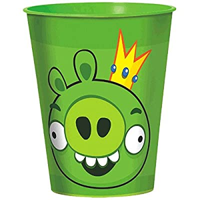 amscan Fun-Filled Angry Birds Birthday Party Favour Cup, 16 oz, Green