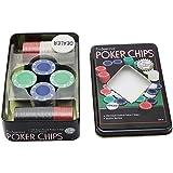 YakeHome Chips Iron Box Set Set di fiches da Poker per Texas Holdem Blackjack Giochi Carte...