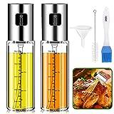 Pulverizador Aceite, Splasks 2 PCSAceitera Antigoteo Dispensador Aceite Spray Aceite Cocina, Tapa...