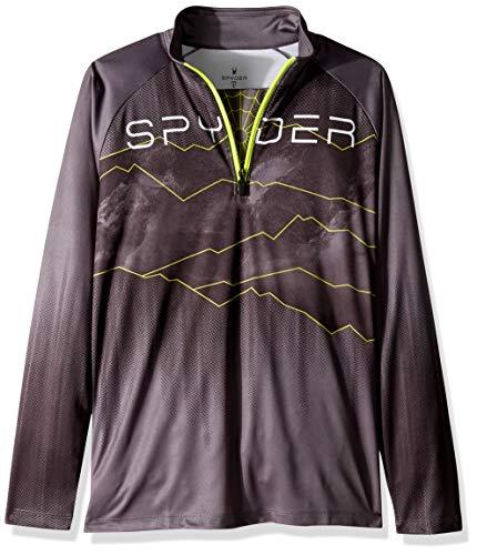 Spyder Limitless Rising T-Shirt de Sport à col en T pour garçon Petit Polar/Noir/Jaune Bryte.