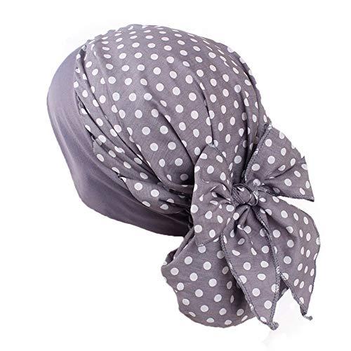 Turbantes Pañuelos Cabeza Mujer de Satín para Cáncer, Oncologicos (B)
