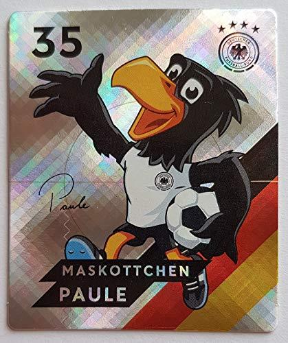 Rewe EM 2020 DFB - Sammelkarten - Glitzer - Maskottchen Paule - Nr. 35 - Zusatzbonus 1 toysagent Sonderkarte