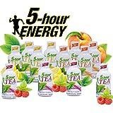 5 Hour Energy Tea Assortment, Natural Green Tea Energy Shot Sampler. Peach Tea, Lemonade Tea, and...