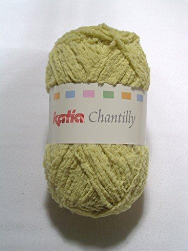 Chantilly, fijn chenillegarn van Katia - licht mosterd (64)