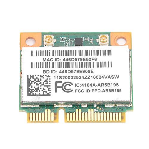 Lazimin Tarjeta de Red inalámbrica, 2.4G 150Mbps Mini PCIE Bluetooth3.0 Adaptador de Red para computadora portátil, Compatible con XP / Win7 / Win8
