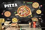 Murwall 3D Pizza Wallpaper Italiano Pizza Wall Print Art Wall Murals for Cafes Living Room Kitchens Cafe Design Art