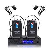 V3002 VHFワイヤレス2ラベリア・マイクロホン・システム(ヘッドセット・マイク付)