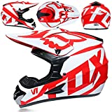 YXST Casco Motocross,Certificato Ce Casco Traspirante,Vintage Scooter Jet Helmets con Occhiali,L'Anti-Collisione Protegge La Sicurezza Stradale degli Utenti 52-59cm,4,S