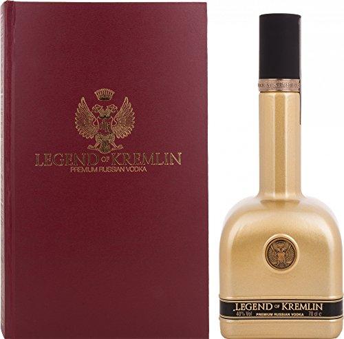 Legend of Kremlin Premium Russian Vodka GOLD BOTTLE-RED BOOK 40% - 700 ml in Giftbox