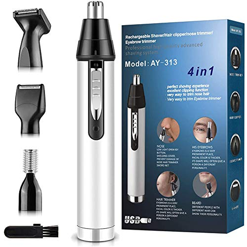 Nose Hair Trimmer for Men,2020 Upgrade Professional Nose Hair Trimmer with Vacuum Cleaning System...