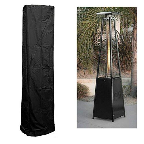 ZFHNY Cubierta para Calentador de Patio al Aire Libre, Negro,Resistente al Agua, Protector de Muebles Redondo Exterior para jardín,Cubierta de protección Solar de Tela Oxford para Lluvia de Patio