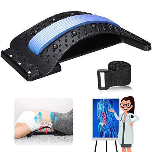 Jeteven Rückenstrecker Back Stretcher Mit Magnetfeldtherapie Rückenmassage Unterstützung Rückendehner Rückentrainer zur Rückenschmerzlinderung Haltungskorrektur