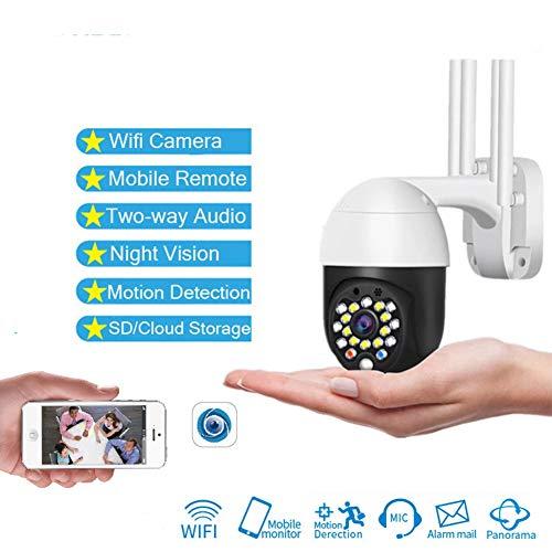 1080P Cloud Wifi Camera, Outdoor 2MP Camera, Auto Tracking Nachtzicht Waterdicht Home Security Ip Camera Speed Dome Camera Ip Cam, Dual Voice Intercom