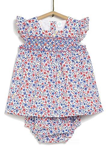 Tex - Vestido Estampado con Braguita para Bebé Niña, Rosa Luminoso, 9 Meses