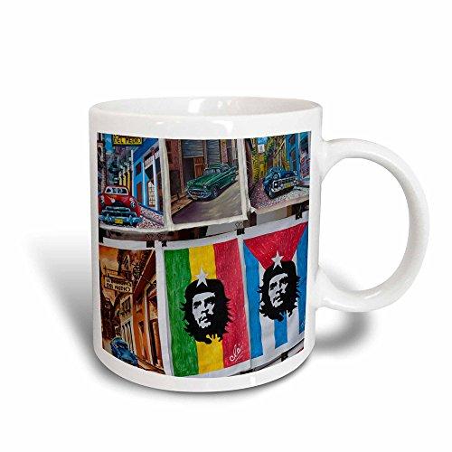3dRose Cuba, Havana, Craft Market souvenirs-CA11 WBI0275-Walter Bibikow Becher, Keramik, schwarz/weiß, 11 oz