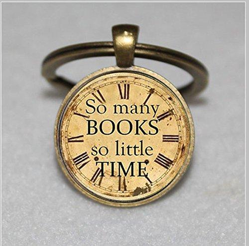 Zitat Schlüsselanhänger, so viele Bücher so wenig Zeit, Fotografie & #-; Einzigartige Schlüsselanhänger Key Ring Geschenk & #-; Everyday Schlüsselanhänger Key kette