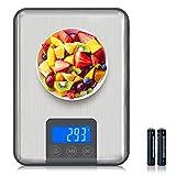 Adoric Bilancia digitale professionale Elettronica 15 kg, bilancia da cucina con grande superficie di pesatura, precisione fino a 1 g (peso massimo 15 kg).