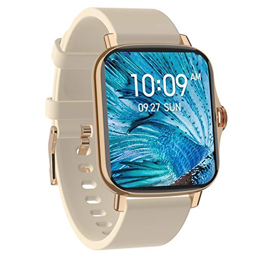 BNMY Smart Watch, for Android and iOS Phones,Fitness Tracker IP67 Waterproof with Heart Rate and Sleep Monitor,Step Counter,Smart Watches for Men Women,Gold