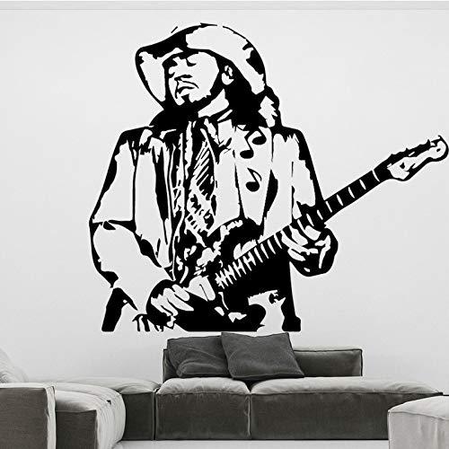 Yaonuli gitaar muziek muursticker decoratie huis woonkamer accessoires slaapkamer West Cowboy sticker kamerdecoratie