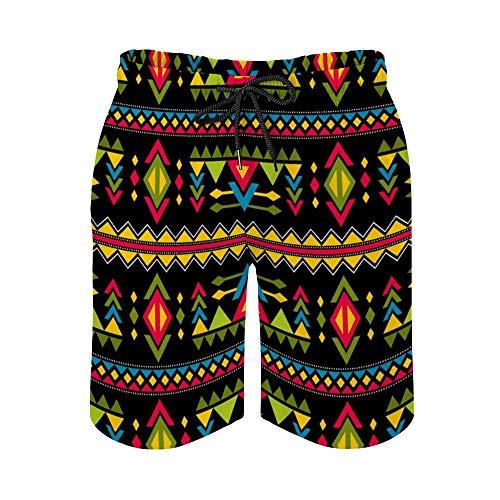 MayBlosom Pantalones cortos de playa para hombre, diseño de moda Navajo, de secado rápido, traje de baño casual hawaiano, trajes de baño con elástico