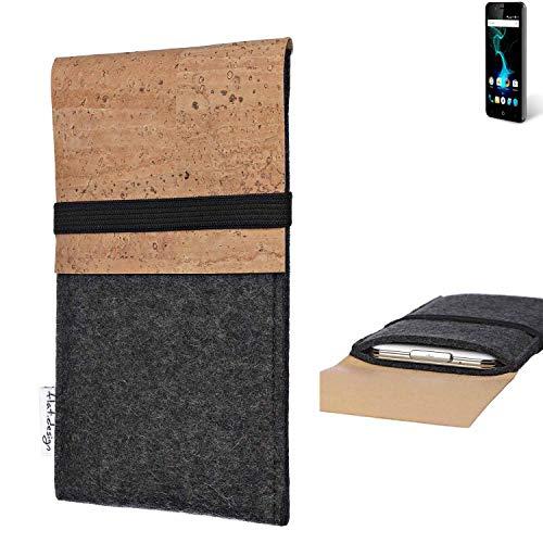 flat.design Handy Hülle SAGRES für Allview P6 Pro Made in Germany Handytasche Filz Tasche Schutz Case fair Kork