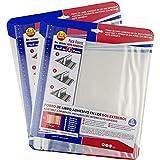 Forro de Libros Autoadhesivo y Ajustable Transparente Adhesivo en los dos Extremo - Pack de 10 Unidades Forra Fácil 29,5x55 cm