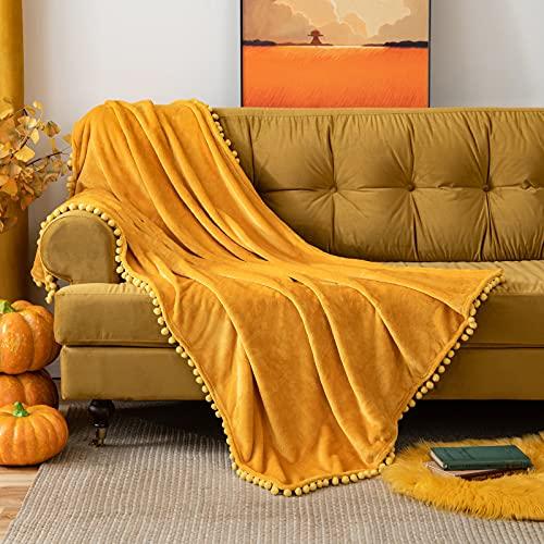 Mantas Para Sofas Naranja mantas para sofa  Marca MIULEE