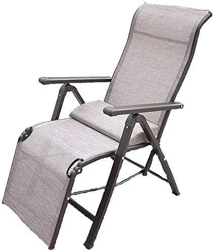 YLJYJ Silla Plegable al Aire Libre, Tumbona de jardín 155 & deg;Ajustable con reposabrazos ensanchado/Diseño de Almohadilla de pie Antideslizante de Tela Transpirable, para (BBQ)
