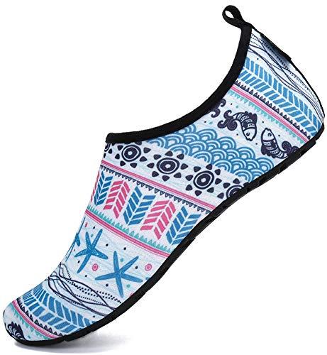 Agua Calcetines Hombre Escarpines Mujer Calzado de Agua para Playa o Piscinas Deportes Acuaticos, 38/39