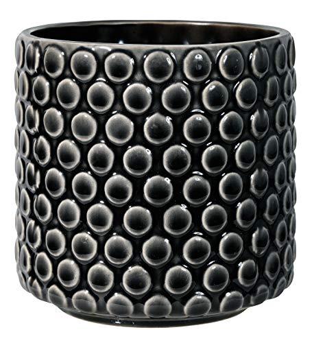 Bloomingville Vaso da fiori, nero, ceramica