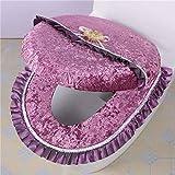 xiaoxioaguo hogar 2 unids/set de asiento de inodoro impermeable lavable multicolor asiento cojín para mantener caliente cuarto de baño inodoro cubierta