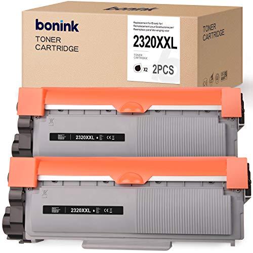 BONINK 2 Kompatibel mit Brother TN-2320 XXL TN2320 TN-2310 Hohe Kapazität Schwarz Toner für Brother MFC-L2700DW MFC-L2700DN DCP-L2520DW HL-L2300D HL-L2340DW HL-L2365DW DCP-L2500D DCP-L2540DN