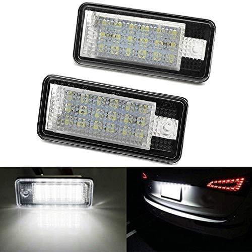 Panthem - Luces para matrícula de coche, 2 piezas 3528 SMD LED de matrícula trasera lámparas impermeables de repuesto para A3 S3 A4 S4 RS4 A5 A6 C6 A8 S8 Q7 RS4 RS6