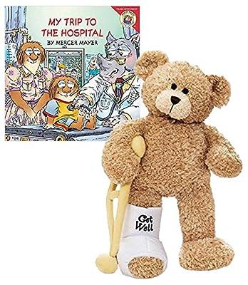 GUND Break a Leg Jr., Broken Leg Bear Get Well Soon Teddy Bear with a Cast