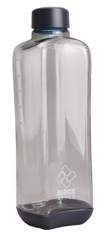 の手がかり衝突コースパール金属 水筒 1000ml 直飲み PCアクア ボトル グレー ブロックスタイル H-6037