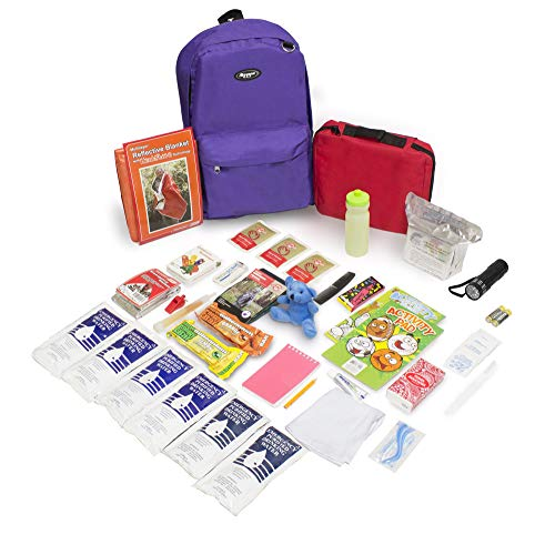 Keep-Me-Safe Children's Deluxe 72-Hr Emergency Survival Kit, Purple