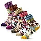 Women Winter Socks Women Socks Warm Thick Soft Wool Socks Christmas Gift Socks for Women Cozy Crew Socks