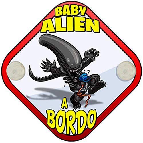 Placa bebé a bordo Baby Alien a bordo