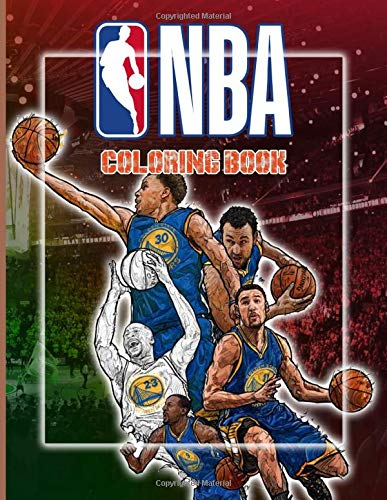 Nba Coloring Book: Collection Adults Coloring Books Color To Relax