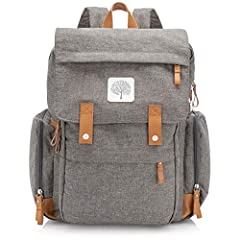 MORE THAN TEN POCKETS, INCLUDING INSULATED BABY BOTTLE HOLDERS - The interior of our backpack diaper bag includes a padded laptop pocket, mesh pocket organizers and other organization essentials. Maintain the temperature of your baby bottles or baby ...