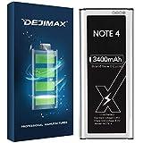 DEJIMAX 3400mAh Batería Note 4 para Samsung Galaxy Note 4, 3400mAh con polímero de Litio NFC para Galaxy Note 4 para N910
